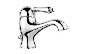 basin mixer with pop-up, bright nickel, handle 76A old marble