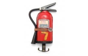 Decoration Fire extinguisher w/hooks, 31x13x3.5cm
