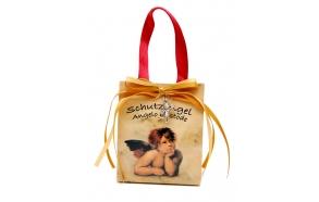 Music box Angel in giftbag, 7x4x9cm