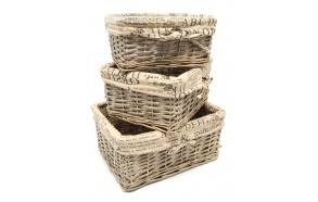 Braided basket Pinqueen, grey, 22x16x10cm