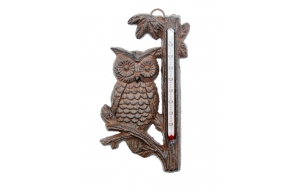 Thermometer Owl, iron