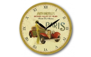 Wall clock Paris 28.8x28.8x4cm