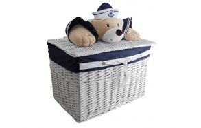 Basket Captain Bear S round d18 x16x16cm