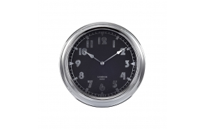 "16""Dia Chrome Metal Modern Clock"