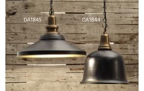 "13-1/2"" Round x 17""H Iron & Aluminum  2-Tone Hanging Pendant Lamp, Imported"