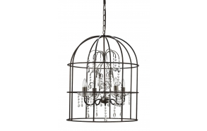 "67-3/4""H Metal Birdcage Lamp w/ Glass"