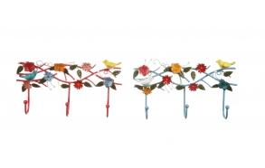 metallist käsitsi maalitud linnumotiiviga nagi, 36cmL x 5.5cmW x 19cmH
