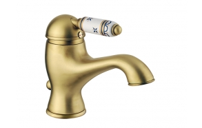 basin mixer with pop-up,raw brass, handle 77