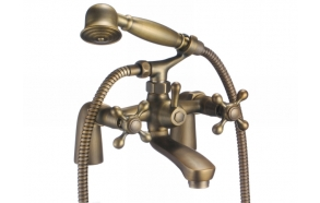 Bath mixer , Retro Eco, old bronze