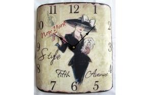 """retro wall clock """"NEW YORK"""""""