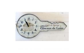 """wall clock w hooks """"COTEAUX DE LOIRE"""""""