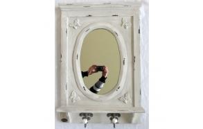 vintage mirror w hooks
