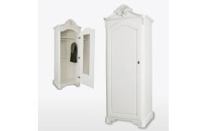 One Door Crested Wardrobe