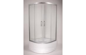 Dushinurk DN001 90x90x162cm ümar, almiiniumist raam/5mm kirgas turvaklaas (alusele DNA01)