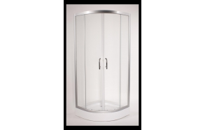 Dushinurk DN007 90x90x190cm ümar, almiiniumist raam/5mm kirgas turvaklaas (alusele DNA03)