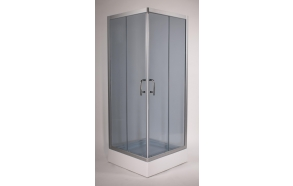 shower cabin ,square,aluminium frame,grey glass