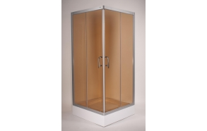 shower cabin ,square,aluminium frame,bronze glass