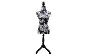 Mannequin black w roses h 168cm