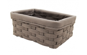 Woven basket Temu, taupe, 28x18x11cm