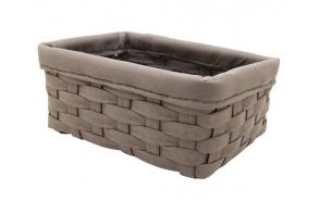 Woven basket Temu, taupe, 23x14x9.5cm