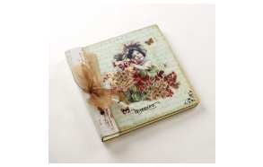 SQUARE PHOTO ALBUM VINTAGE GIRL