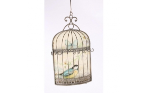 BIRD CAGE WITH HOOKS