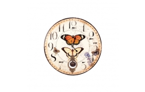 BUTTERFLIES PENDULUM WALL CLOCK
