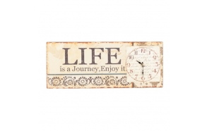 METAL WALL CLOCK WITH LIFE SIGN