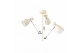 RETRO Beige ceiling lamp, metal,3 x E14 20W