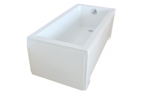 "bathtub 160x70 cm ""MODENA"", incl drain and long side panel"