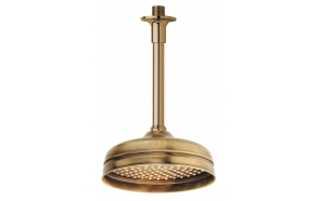 CEILING SHOWER ARM mm.100 BRONZE+SHOWER HEAD 200MM BRONZE