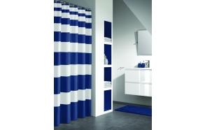 NAUTICA shower curtain textile, blue, 180x200cm