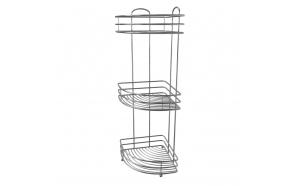 freestanding corner basket, metal