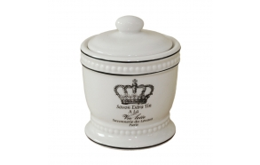 cotton jar w lid RETRO