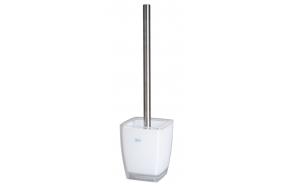 toilet brush w holder KATI WHITE