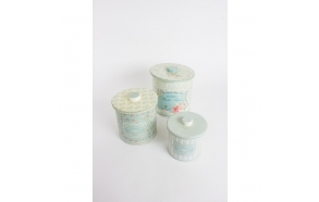 BELLE FLEUR CONTAINERS WITH LIDS, 3 sizes