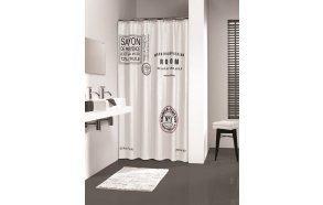 SAVON DE PROVENCE shower curtain textile 180x200,