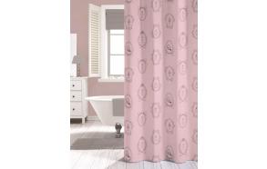 NEW ROMANCE shower curtain textile, pink, 180x200