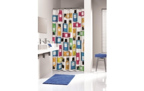FOAM shower curtain textile,coloured, 180x200cm