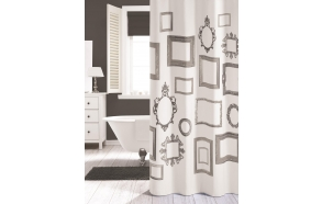KADER shower curtain textile, white, 180x200cm