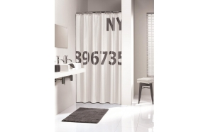 DIGITS shower curtain textile, antracite, 180x200