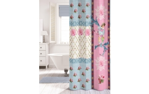 MILOU shower curtain textile,coloured,180x200cm