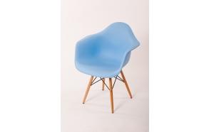 chair Beata, blue, beech feet
