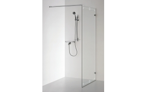 Shower screen DORA with pattern , clear glass