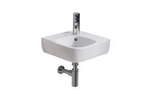 STYLE corner washbasin 37x50cm with t/h