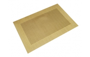 Placemat plastic gold, 45x30cm