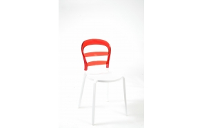 design chair,stackable,red+white