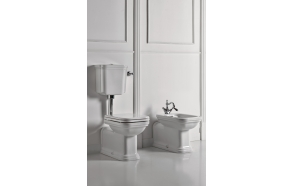 wc Waldorf +low level tank, chromed fittings,universal trap