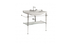 Waldorf bonzed floor standing unit w glass shelf for 80 cm basin 4141K3 (919793+920001+920293)