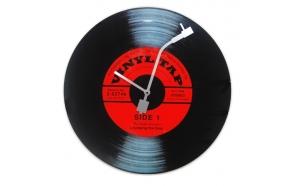 Wall clock Vinyl Tap, black, d43cm